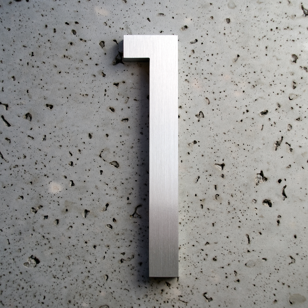 Modern Font Brushed Aluminum 1