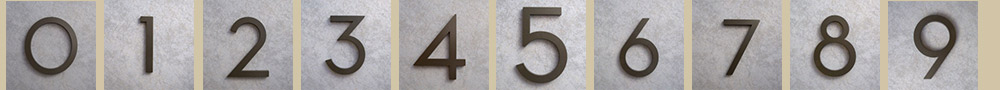 bronze-address-numbers