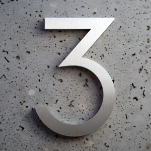 Modern Aluminum House Numbers